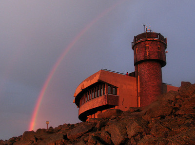 Rainbow over the Observatory weather tower.