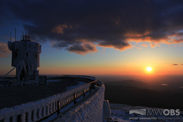 Sunset from a glaze covered summit during May 2013.
