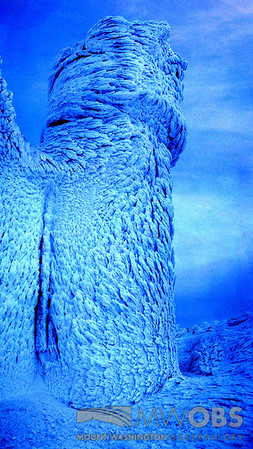 Rime covered Observation tower.