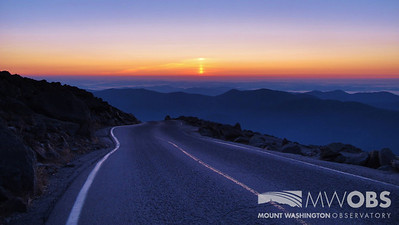 The road to a nice summer sunrise.