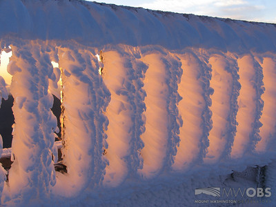 Sunrise Light On Rime